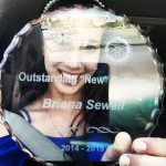 "2015, Breanna Sewell received ""Outstanding New Rotarian"" award from the Rotary District 5330"