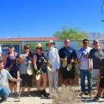 2015, Breanna Sewell with fellow Golden Shovel Sponsors at the DHS Rotary Community Garden