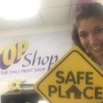 "2016, Breanna Sewell signed up for TOP Shop to be a ""SafePlace."" ""SafePlace"" is an important outreach tool for SafeHouse of the Desert. We now have the ability to assist a minor that comes to our office space needing help…. We will contact SafeHouse of the Desert."