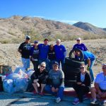 2016, Breanna Sewell with her fellow Rotarians, volunteering near the Rotary Dog Park — Rotarian at Work Day where we cleaned up the hiking trails